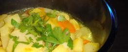 Wurzelgemüse-Suppe mit Topinambur